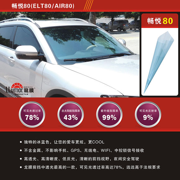 Long Membrane Automobile Glass Film Chongqing Yijie Solar Membrane Explosion-proof Heat-proof Film Sunscreen Film