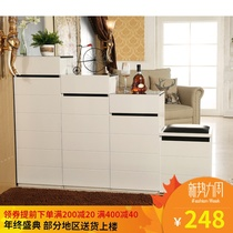 Shoe Cabinet paint combination cabinets Ikea high and low partition step double-sided shoe cabinet modern simple foyer cabinet