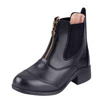 Cavassion儿童马靴马术障碍短靴儿童软牛皮短靴柔软透气8106028