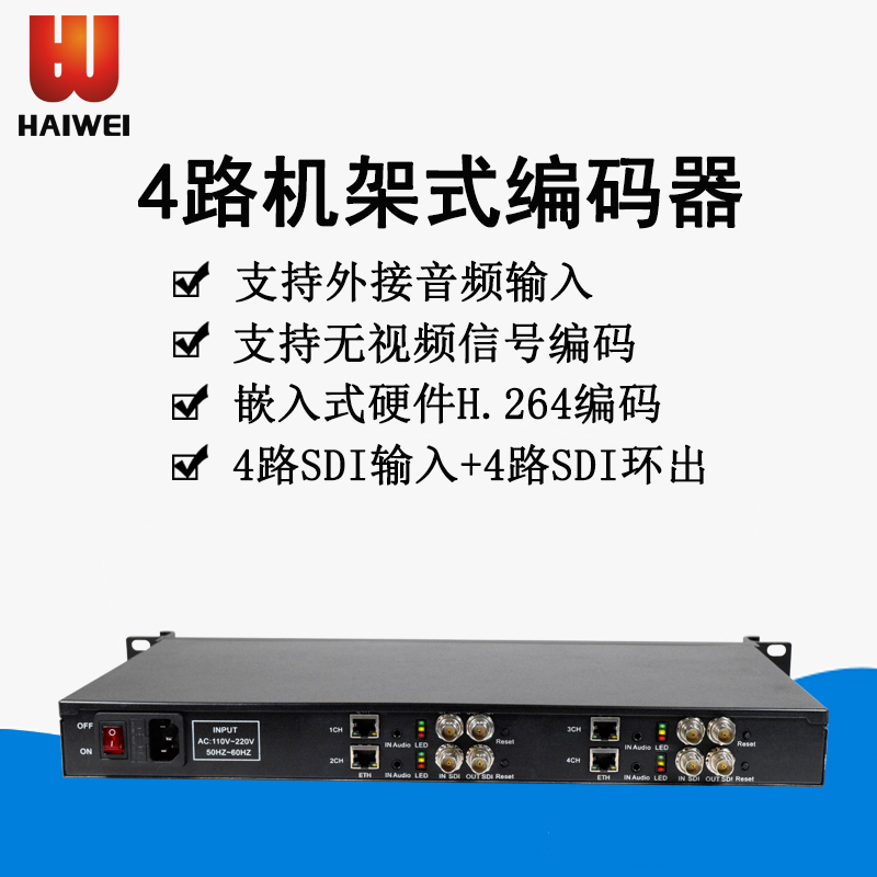 Highway video H3614 4-way sdi HD video encoder IPTV live 1U rack H.264