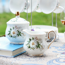 European creative ceramic Coffee with sugar cup milk pot flower Teapot Tea set supporting small milk pot sugar cans