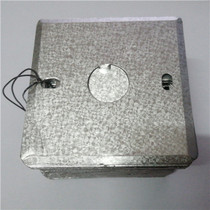 Type 86 dark bottom box metal cover blank麪 plate square cover galvanized wire box square box iron cover plate 20 holes 25