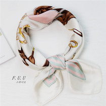 Small square scarves women spring and autumn wild Korean scarf scarves tie decorative art scarf shawl summer scarf