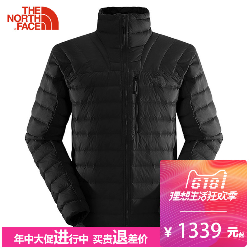 The North Face down jacket for men's autumn and winter outdoor sports 800 fluffy velvet to keep warm 2XXL