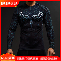 Marvel Venom Spider-Man sports tights Training quick-drying clothes high-stretch breathable fitness clothes cosplayT