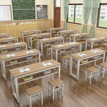 Primary and secondary school desks and Chairs Training Table tutorial book desks and chairs combination art Table double-decker simple double-decker learning table