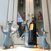 Européenne creative rouge Vin rack décoration armoire à vin décorations accueil salon meubles haut de gamme vin bouteille à lenvers gobelet cadre