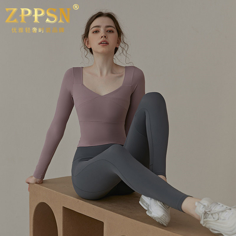 Italian ZPPSN yoga suit womens autumn winter new long-sleeve professional fashion fitness two-piece set
