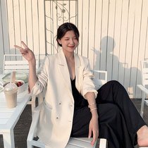 White suit jacket womens spring and autumn casual sense of broad 2021 new design sense small crowd early spring small suit top
