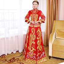 Xiu wo dress bride 2018 new wedding toast dress chinese wedding gown costume married clothes wo Xiu clothing embroidery