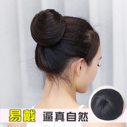 The ball head hair fluffy wig bag the other half ball head ring artifact simulation flower headdress