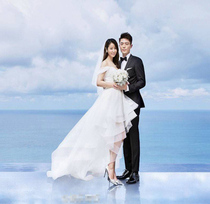 The star of the same style slim large size spring wedding dress