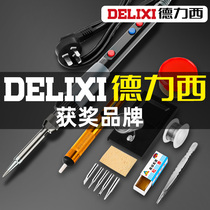 Delixi electric soldering iron thermostat home set adjustable temperature welding rod solder gun repair welding tool electro-iron