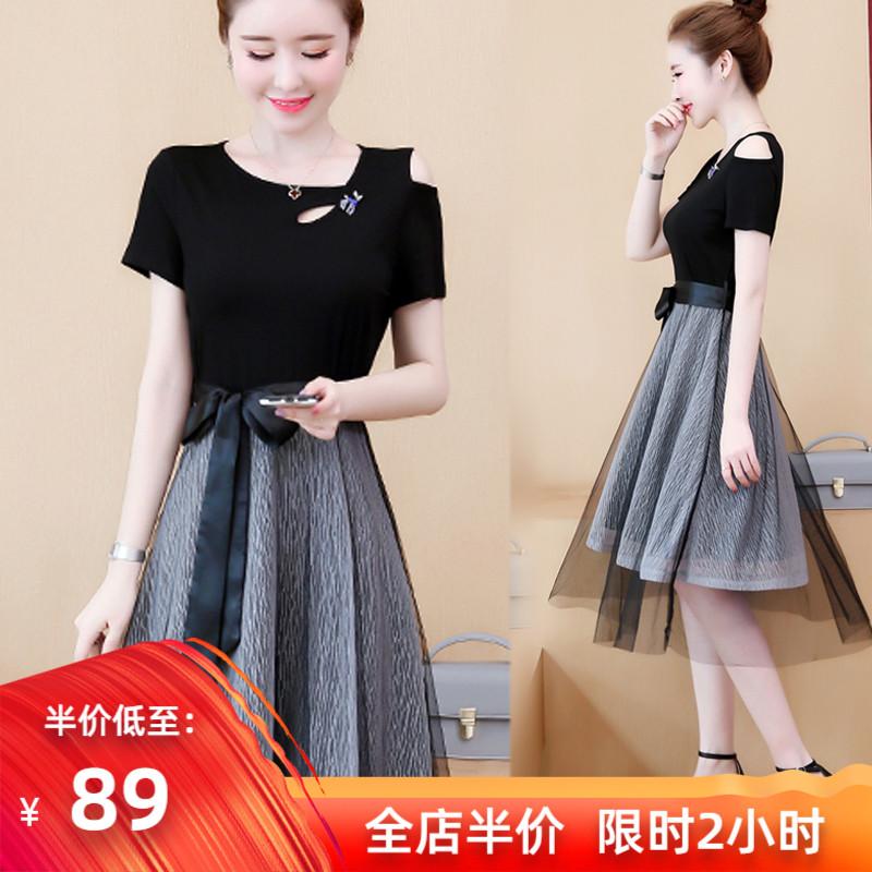202021 nouvelle taille femme robe mm gras montrent tempérament mince âge réduisant costume de vacances automne et hiver début du printemps