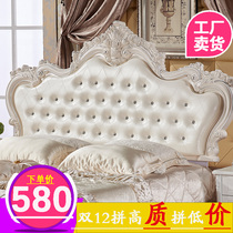 Bedside European headboard soft bag backrest French paint Princess double custom single Buy a bedside 2018 new