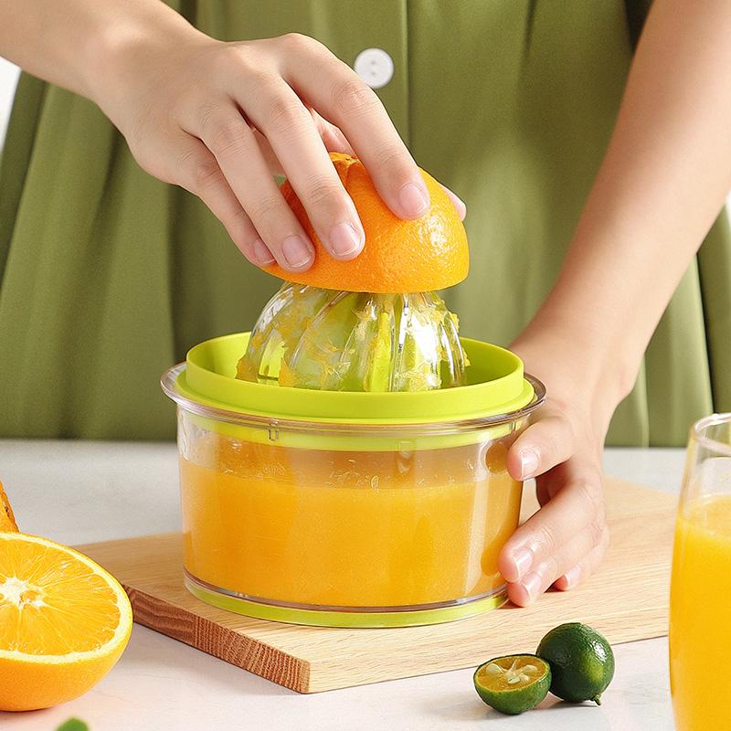 Ohui простой ручной соковыжималка небольшой ручной встряхивания апельсинового экструзионера фрукты домашний сок чтобы отделить жареную чашку сока
