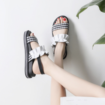 2018 student Korean version of flat-bottomed Roman shoes