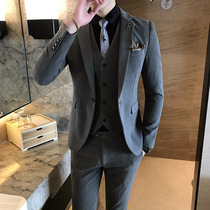 Casual Youth Handsome Korean version of the British wind suit set