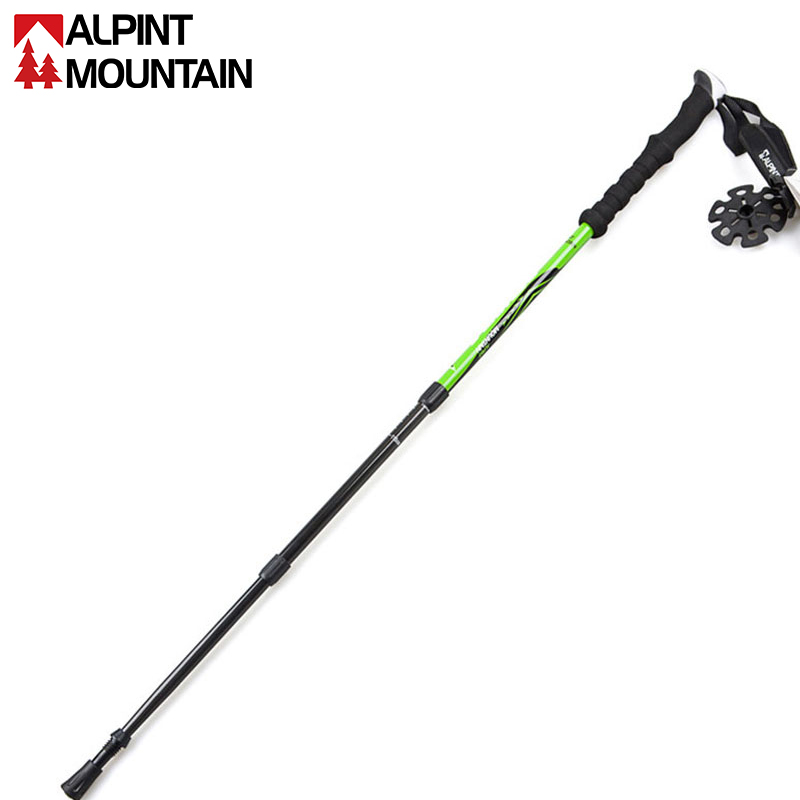 Carbon alloy carbon trekking poles can be easily scaled outdoor climbing hiking equipment for the elderly climbing cane walking stick