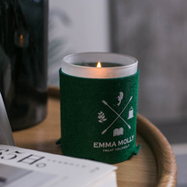 Emmamolly Winter custom personality anti-hanging wall felt Aromatherapy Candle Cup set base special