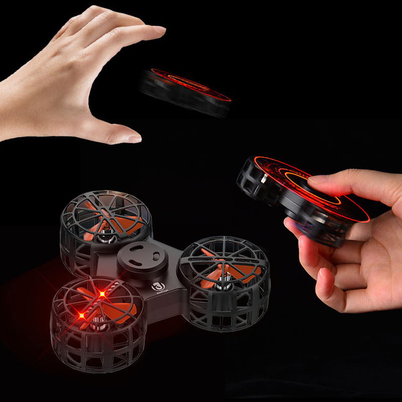 Flying fingertip gyro interphalangeal gyro magnetic levitation flying decompression toy tremble black Technology toy