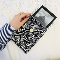 Handmade fabric Kindle ipad MacBook ebook protection Kit bag Inner gall bag literature and art