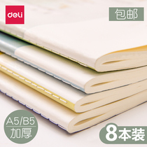 Effective notebook B5 notepad thick notebook stationery South Korea thick small fresh simple thick thick college students a5 diary notebook