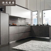 Fanny Home Tianjin overall cabinet custom imported rock plate modern simple kitchen cabinet custom quartz stone