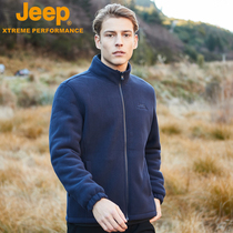 Jeep Jeep Outdoor Catch velvet male fleece coat charge garment inner-double velvet thickening warm clothes big code