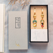 Cloisonne Bookmark Chinese Style Gift for Foreigners Peking Opera Facebook Gift with Chinese Characteristics for Foreigners
