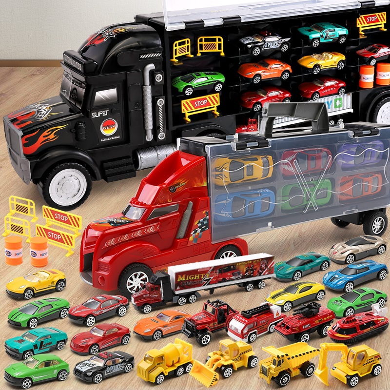 Children's Toy Truck, Container Truck, Car Model Set 23442-3-4-6 Year Old Toy Boys