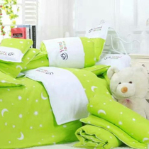 New Cotton Nursery Three sets of pure color embroidered children baby nap baby bed quilt cover