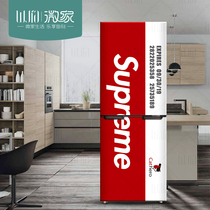 Tide brand European and American fashion Creative refrigerator renovation sticker Waterproof Wall Sticker Retro Refrigerator Sticker Nordic Refrigerator Sticker