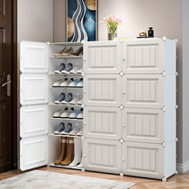 Simple shoe cabinet large capacity multi-layer dust-proof economy storage artifacts home room good-looking put the door shoe shelf
