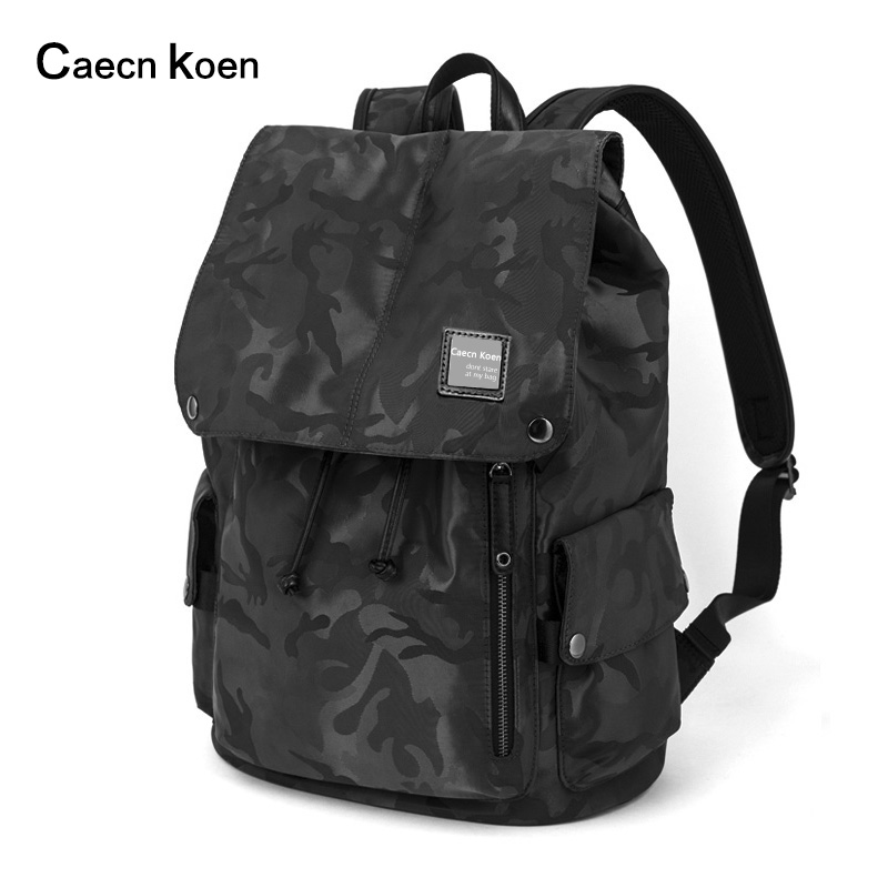CK backpack men's shoulder bag men's camouflage fashion school bag men's young computer bag light leisure simple sports