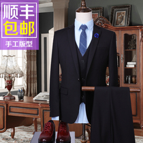 Summer slim fit mens suit