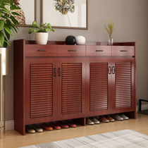 Ultra-thin shoe cabinet Xuanguan cabinet simple modern solid wood-colored shoe cabinet small household multi-functional shoe rack large-capacity lockers