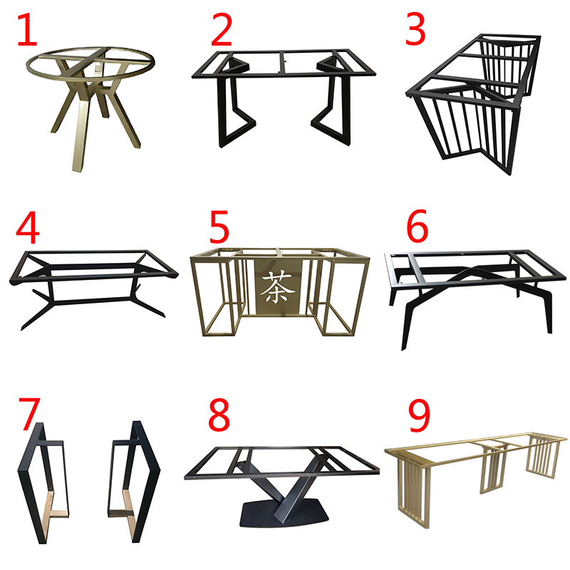 Iron table foot table leg stand metal table foot coffee table table large board table 巖 marble table leg shelf