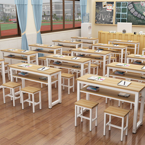 School tutorial students and Chairs table and chair manufacturers Direct sales single double training table and Chair combination desk Activity Table