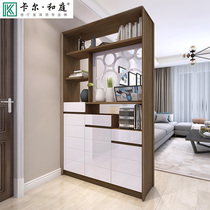 Nordic solid wood entrance cabinet door Hall screen cabinet double-sided partition cabinet modern minimalist multi-function room shoe cabinet