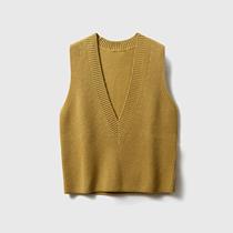 Rong Mei (ZZ0913553) high value modern temperament deep V 100% wool knitted beaded vest