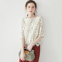 ^@^ 戎 US CY0324098 French Elegant Lace (Silk Lining) Eyelashes Temperament Top