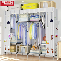 Wardrobe cloth wardrobe modern minimalist rental room with assembly cabinet dormitory fabric hanging wardrobe home bedroom
