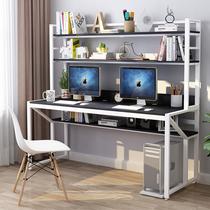 Компьютер настольный стол домашний стол Книжная полка комбинация простой современный один стол спальня простой двойной студенческий стол