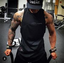 Muscle Brother Lvft Fitness sports vest men sleeveless loose elastic sweat breathable bodybuilding vest Trendy