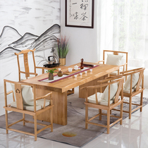 Solid wood coffee table wood tea table and chair combination new Chinese tea table simple modern Kung Fu Tea Table office tea table