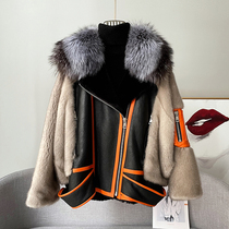 New 2021 imported young mink coat womens whole Marten young short fur one-piece mink fur coat