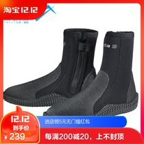 Scubapro Delta 5mm New mens and womens diving boots anti-skid thick bottom diving shoes zipper Magic Sticker