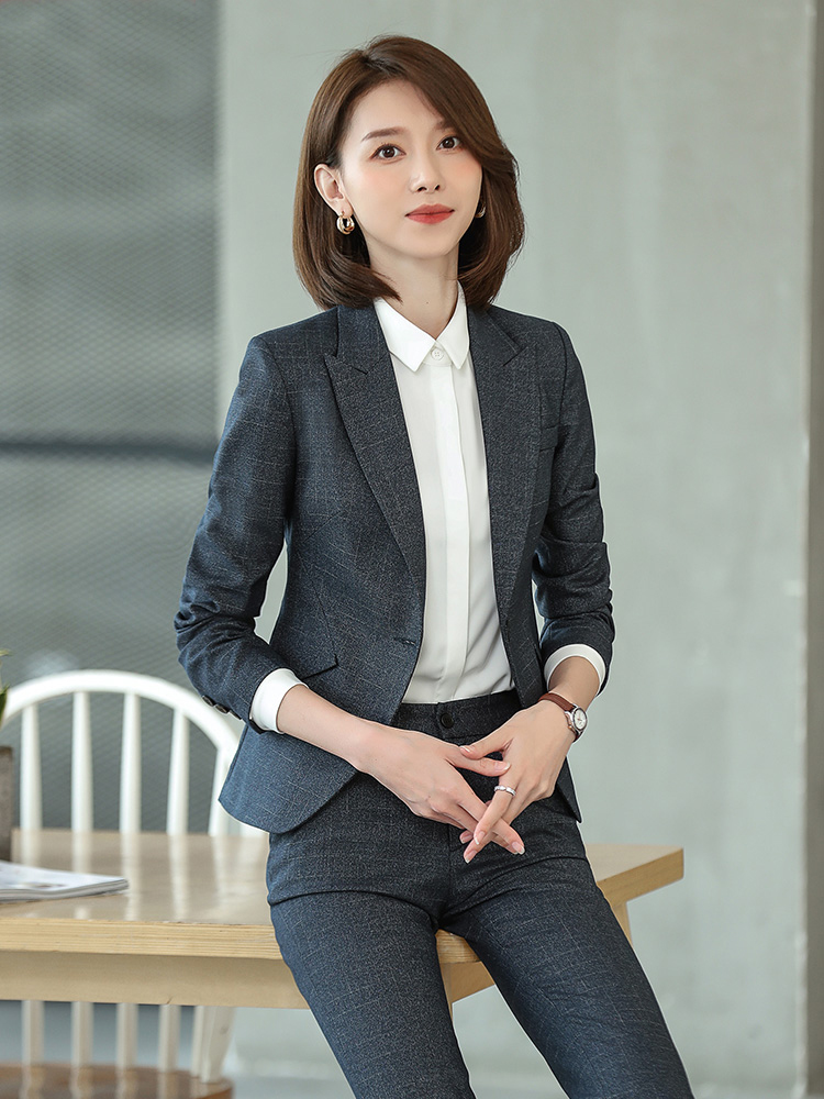 High-end suit set female president workwear temperament goddess Fan work temperament competent Korean version of the manager work clothes