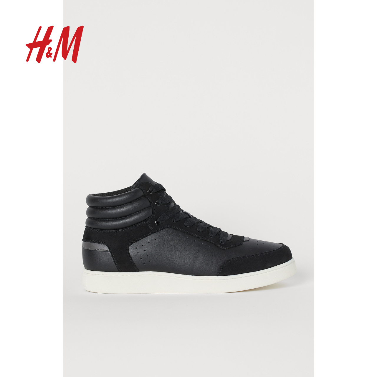 HM men's shoes 2020 spring new men's trend leisure high top sports shoes 0824441